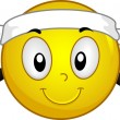 Headband Smiley — Stockfoto