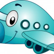 Airplane Mascot - Stock Photo