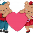 Teddy Bear Hearts — Stock Photo