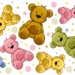Stock Photo: Seamless Teddy Bears