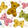 Stockfoto: Seamless Teddy Bears