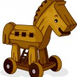 Wooden Horse — Stock Photo