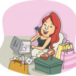 online shopper — Stock Photo