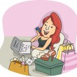 Stock Photo: Online Shopper