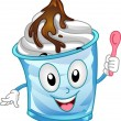 Sundae Mascot — Stock Photo