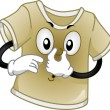 T-Shirt Mascot — Stock Photo