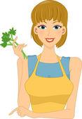 Veggie Girl — Stock Photo