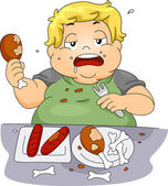 Binge Eating — Stock Photo