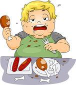 Binge eten — Stockfoto