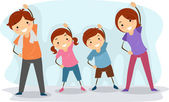 Family Exercise — Stock Photo