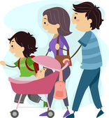 Family Stroll — Stock Photo