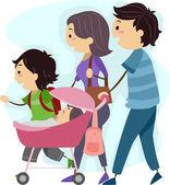 Family Stroll — Stock Photo