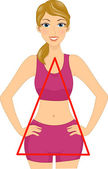 Triangle Body Shape — Stock Photo