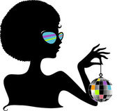 Silhouette Disco Ball — Stock Photo