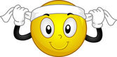 Headband Smiley — Stock Photo