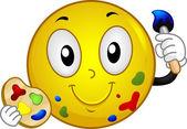Painter Smiley — Stock Photo