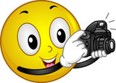 Photographer Smiley — Stock Photo