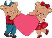 Teddy Bear Hearts — Stock Photo