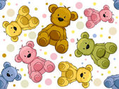 Seamless Teddy Bears — 图库照片