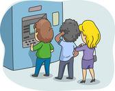ATM Queue — Stock Photo