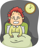 Illustration of a Guy Suffering from Insomnia — Stock Photo