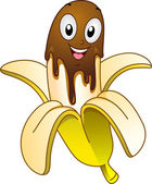 Banana Choco Mascot — Stock Photo