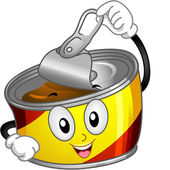 Canned Food Mascot — Stock Photo