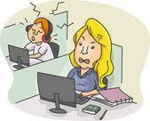 Office Etiquette — Stock Photo