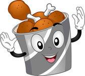 Chicken Bucket Mascot — Stock Photo