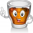 Shot Glass Mascot — Stock Photo