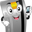 Credit Card Mascot — Stock Photo