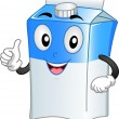 Milk Carton Mascot — Stock Photo