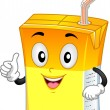 Orange Drink Mascot - Foto de Stock