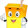 Orange Drink Mascot — Foto de Stock