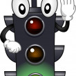 Stoplight Mascot - Stock Photo