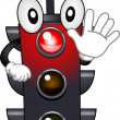 Stock Photo: Stoplight Mascot
