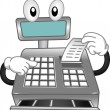 Stock Photo: Cash Register Mascot