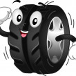 Tire Mascot — Stock Photo