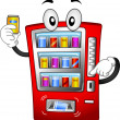 Vending Machine Mascot — Stock Photo