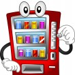 Vending Machine Mascot — Stock Photo