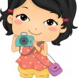 Camera Girl — Stock Photo