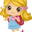 Backpack Girl — Stock Photo