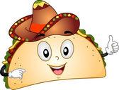 Mascota de taco — Foto de Stock