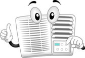 Air-conditioner Mascot — Stock Photo