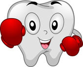 Boxer Tooth Mascot — Stock Photo