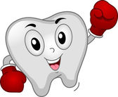Tooth Boxer Mascot — Stock Photo