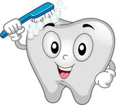 Tooth Mascot — Foto Stock