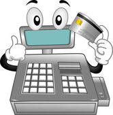 Cash Register Mascot — Stock Photo
