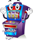 Slot Machine Mascot — Stock Photo