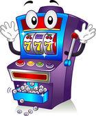 Slot Machine Mascot — Stock Photo